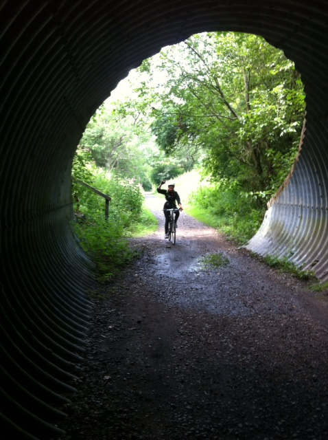 Nic coming through a tunnel